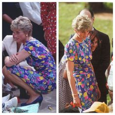 Princess Diana of Wales in David Sassoon - Official visit to Brazil (Sao Paulo - hostel for children) - April 1991