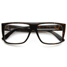 Flat Top Square Clear Lens Fashion Glasses 8807 | zeroUV