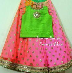 Love the skirt Kids Dress Wear, Kids Gown, Baby Dress, Kids Wear, Kids Indian Wear, Kids Ethnic Wear, Kids Frocks, Frocks For Girls, Little Girl Dresses