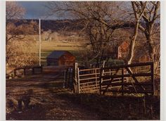 "James Welling, ""Winter Yard, Lampman Farm, Ancramdale, NY,"" 2001 photograph. Sheet: 12 x 16 1/2 in. (30.5 x 41.9 cm). Grunwald Center for the Graphic Arts, UCLA."