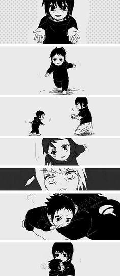 Itachi & Sasuke 's childhood memory #brother #family #cosplayclass #costume #cosplay #naruto.