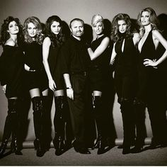 Supermodels for Gianni Versace Couture, 1990's