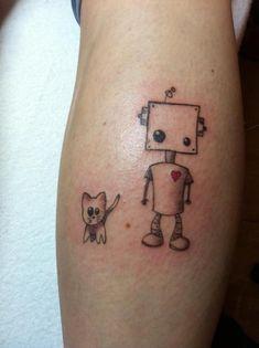 cute robot tattoo - Google Search