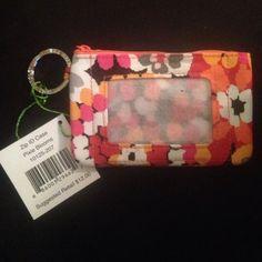 Vera Bradley zip id case Pixie blooms. New with tags. Wallet Vera Bradley Accessories Key & Card Holders