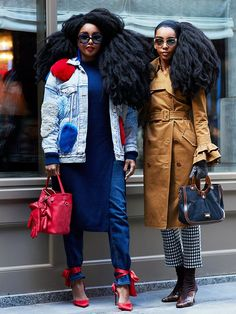The Latest Street Style From New York Fashion Week Neuester Street Style aus New York Top Street Style, New York Fashion Week Street Style, Autumn Street Style, Street Chic, Street Fashion, Nyfw Street, Fashion Week Paris, New York Fashion Week 2018, Quann Sisters