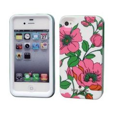 0189e1812 Amazon.com  Kate Spade Green Leaves Red Flower Hardshell Case Cover For iPhone  4 4G 4S KS020  Cell Phones   Accessories