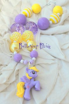 Girls Chunky Bubblegum My Little Pony Beaded Necklace