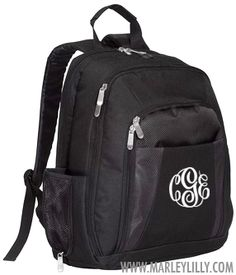 Monogrammed Laptop Backpack | School Supplies | Marley Lilly  it's beautiful <3