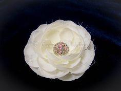 Ivory flower hair clip bridal hair clip by CarmelWedding on Etsy, $16.99