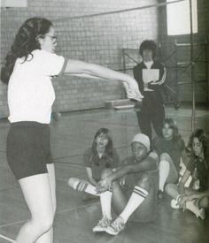 Thought I'd include this retro shot from the 1970s. Miss Treadway was my gym teacher while I went to East. I remember that when you were a freshman they'd have these student leaders in class bossing and acting like they ran the show (really they just took attendance and put away gym equipment). This is a shot of Miss Treadway's student leader class.