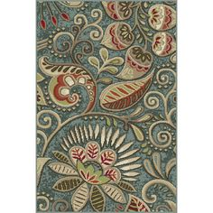 Threadbind Kaduna Blue Area Rug & Reviews | Wayfair