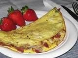 Bacon Omelet - Low Calorie Bacon Omelet