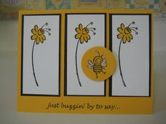 Bee Card by m - Cards and Paper Crafts at Splitcoaststampers