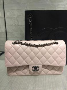 Chanel Cruise 2016 Classic Medium Flap Bag in Soft Pink Caviar with  Ruthenium Hardware  WomensShoulderbags 6ea4250b8af54