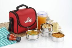 Carewell Champ 4 Container Lunch Box With Locking Glass & Red Bag at Best Price in India! Big Fashion, Fashion Sale, Kitchen Storage Containers, Red Bags, Champs, Locks, Lunch Box, Glass, Appliances