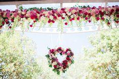 Hanging Aisle Flowers....♥!