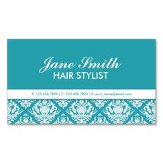 Make a terrific first impression with this Elegant Professional Cosmetologist Damask Floral Business Card Template. Customise this design as your own just in minutes.