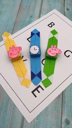 Diy Crafts Hacks, Diy Crafts For Gifts, Diy Crafts Videos, Fun Crafts, Creative Crafts, Paper Crafts Origami, Paper Crafts For Kids, Preschool Crafts, Diy Paper