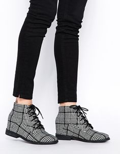 ASOS RIDDLE Wedge Ankle Boots