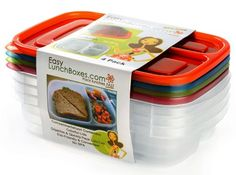 $13.95 on Amazon Prime. Gotta grab a set of these for those kindergartener lunches I'll be packing soon. 3-compartment Lunch Box Containers (Set of 4) BPA-Free