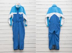 1980s Blue Skirwear Onepiece Snow Suit by Tenson / by CoverVintage, $69.00