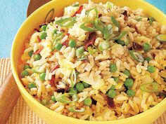 Sweet Pea Fried Rice | Learn how to make Sweet Pea Fried Rice. MyRecipes has 70,000+ tested recipes and videos to help you be a better cook