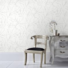 Graham U0026 Brown White Mica Innocence Removable Wallpaper