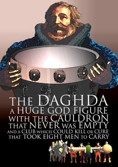 The Daghda had many wonderful possessions: his cauldron of plenty, which never ran empty, and Celtic Goddess, Goddess Art, Irish Mythology, Folklore, Celtic Culture, Irish Celtic, Mythological Creatures, Gods And Goddesses, Deities