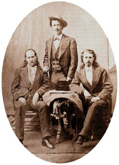 From left: Wild Bill, Texas Jack Omohundro, and Buffalo Bill Cody