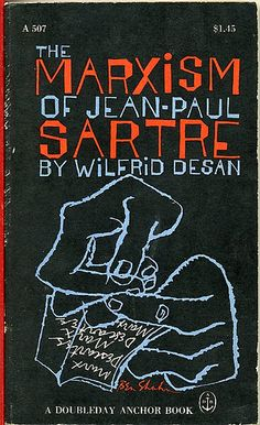 Book cover by Ben Shahn - The Marxism of Jean-Paul Sartre
