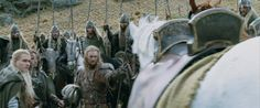 """It's a split second, but LOL at Legolas and Aragorn's faces when Éomer calls Arod and Hasufel from the Éored by name, and they trot right up. They're both standing there like """"Did he just....?"""" """"Whaaaaat.....??"""" Makes me giggle every time. Smallest detail that reinforces why they're called the Horse Lords :)"""