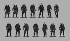 Geralt armor early  concept arts by Scratcherpen.deviantart.com on @DeviantArt