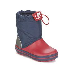 Crocs CROCBAND LODGE POINT BOOT Námornícka modrá / červená - Bezplatné doručenie so Spartoo.sk ! - Topánky Obuv do snehu Deti 39,99 eur