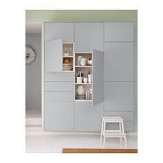 #IKEA  #VEDDINGE, Door #Kitchen VEDDINGE grey is a smooth, sleek door that brings a soft and modern expression to your kitchen.Lacquered doors are smooth and seamless, resistant to moisture and staining and very easy to keep clean.