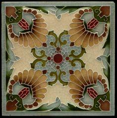 mademoisellearielle:Art Nouveau tile