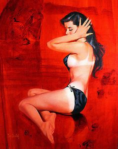 mudwerks:    (via Exotic Painting: Women on Red)  Mayo Olmstead