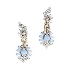 Lulu Frost for J.Crew crystal and color statement earrings/