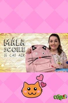 Taispeánann Caitríona dúinn conas mála scoile le Cat a dhéanamh. Caitríona shows us how to do a DIY Cat school bag. Cat S, Show Us, School Bags, Movie Posters, Diy, Suitcase, Bricolage, Film Poster, Do It Yourself