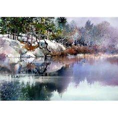 Watercolor by Nita Engle - Quiet Waters