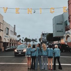 You can find us under the lights | mumu girls in venice