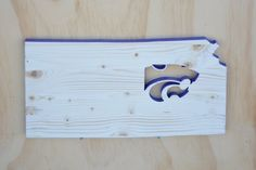 Kansas State Wildcats State Wood Cutout by SkipToothCreations