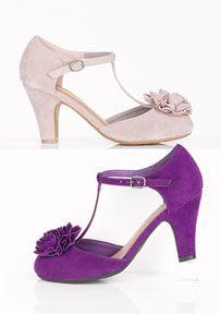 Madeline Rosette T-strap heel
