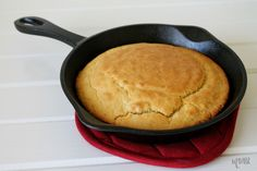 This Cast Iron Skillet Cornbread recipe is perfect to serve any time of year! Add butter and honey to this delicious cornbread, too if you wish!