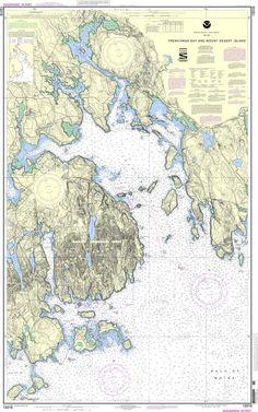 NOAA Nautical Chart 13318: Frenchman Bay and Mount Desert lsland