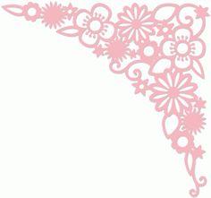 Silhouette Design Store - View Design #39640: floral flourish corner