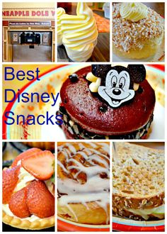 Pictures of my family's Best Disney World Snacks and where you can find these treats. Do not miss Disney Dole Whip only found 2 places. Disney 2015, Disney Tips, Disney Recipes, Disney Videos, Disney Disney, Disney World Food, Walt Disney World Vacations, Disneyland Vacations, Disney Resorts