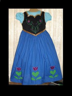 Hey, I found this really awesome Etsy listing at https://www.etsy.com/listing/173577293/princess-anna-inspired-dress-appliqued