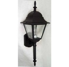 """$46.44   23.75"""" tall  View the Volume Lighting V8310 1 Light 23.75"""" Height Outdoor Wall Sconce with Clear Glass at Build.com."""