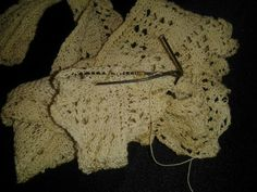 Antique tatting  project not completed