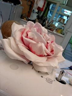 166 best french flower making images on pinterest fabric flowers lina stein millinery gorgeous silk flower in a giant size judithm mightylinksfo